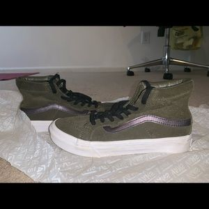 Army Green high top vans